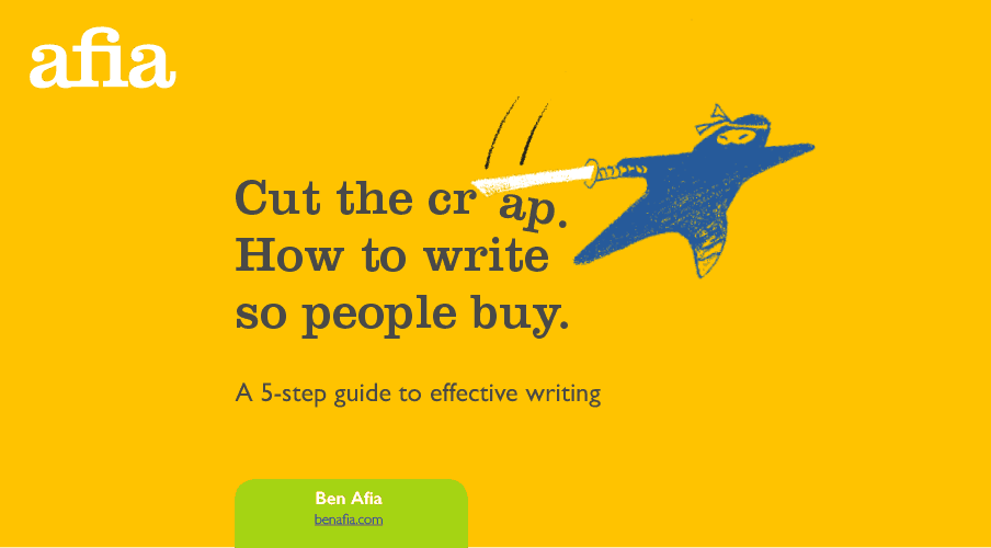 Free ebook – Cut the crap. How to write so people buy.
